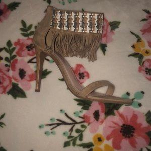 Fringe Strap heel